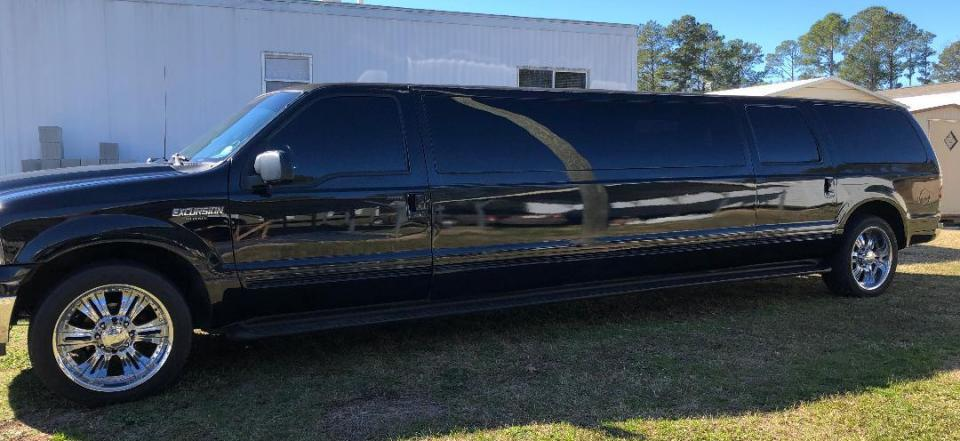 Ride in comfort and style to any event in our stretch Black Excursion!